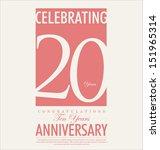 20 years anniversary retro... | Shutterstock .eps vector #151965314