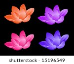 Lotus Flower In Four Colors On...