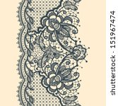 lace ribbon vertical seamless... | Shutterstock .eps vector #151967474