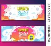 summer sale liquid banners... | Shutterstock .eps vector #1519677914