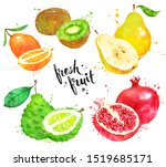 watercolor hand drawn... | Shutterstock . vector #1519685171