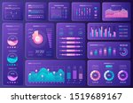 infographic dashboard for... | Shutterstock .eps vector #1519689167