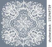 abstraction floral lace pattern | Shutterstock .eps vector #151969739