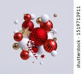 3d Christmas Ornaments  Red And ...