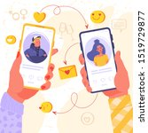 romance app  virtual... | Shutterstock .eps vector #1519729877