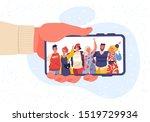 male hand holding mobile phone... | Shutterstock .eps vector #1519729934