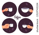 Hands Holding Cups Of Coffee...