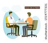 male doctor talks to patient...   Shutterstock .eps vector #1519777331