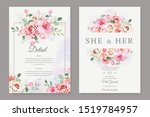 beautiful wedding card with... | Shutterstock .eps vector #1519784957
