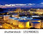 oil tank at sunset in hong kong | Shutterstock . vector #151980821