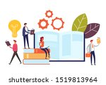 group of people characters... | Shutterstock .eps vector #1519813964