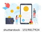 money transfer  cashback ...   Shutterstock .eps vector #1519817924