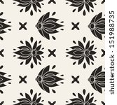 floral seamless pattern.... | Shutterstock .eps vector #151988735