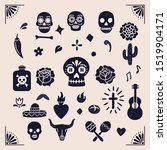 vintage day of the dead... | Shutterstock .eps vector #1519904171