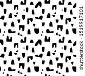 vector abstract doodle seamless ... | Shutterstock .eps vector #1519917101
