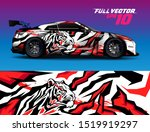 car wrap or decal vinyl sticker ... | Shutterstock .eps vector #1519919297