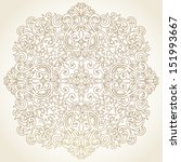 vector baroque ornament in... | Shutterstock .eps vector #151993667