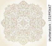 vector baroque ornament in... | Shutterstock .eps vector #151993667