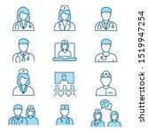 doctor flat line icons.... | Shutterstock .eps vector #1519947254