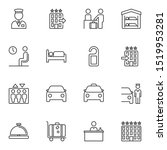 hotel line icons set. linear... | Shutterstock .eps vector #1519953281