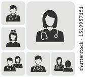 doctor icons set. vector... | Shutterstock .eps vector #1519957151