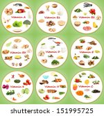 collage of various food... | Shutterstock . vector #151995725