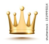 golden crown on a white... | Shutterstock .eps vector #1519995014