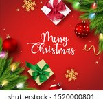 christmas greeting vector... | Shutterstock .eps vector #1520000801