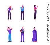 sick men and women set. people... | Shutterstock .eps vector #1520002787
