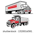 Vector Illustrations Of Two...