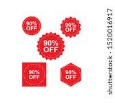 set of red discount sales label.... | Shutterstock .eps vector #1520016917