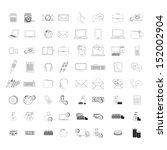 icons set over white background ... | Shutterstock .eps vector #152002904