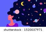 modern flat character. woman... | Shutterstock .eps vector #1520037971