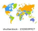 world map vector  isolated on... | Shutterstock .eps vector #1520039927