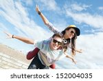 summer holidays and teenage... | Shutterstock . vector #152004035