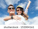 summer holidays and teenage... | Shutterstock . vector #152004161