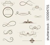 calligraphic design elements... | Shutterstock .eps vector #152004731