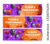 halloween sale template banners ... | Shutterstock .eps vector #1520076254