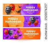 gift voucher template banners... | Shutterstock .eps vector #1520076257