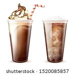 frappe coffee  cola with ice... | Shutterstock .eps vector #1520085857