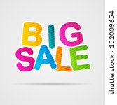 big sale poster | Shutterstock .eps vector #152009654