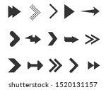 black arrows set isolated on...