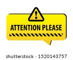 attention please  warning on a... | Shutterstock .eps vector #1520143757