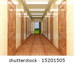 corridor with a several of... | Shutterstock . vector #15201505