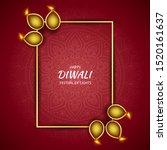 happy diwali festival of light  ... | Shutterstock .eps vector #1520161637