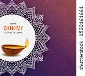 diwali hindu festival of light... | Shutterstock .eps vector #1520161661