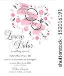 wedding invitation card... | Shutterstock .eps vector #152016191