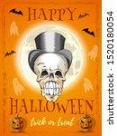 halloween poster design.... | Shutterstock .eps vector #1520180054