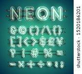 realistic green neon character...   Shutterstock .eps vector #1520186201