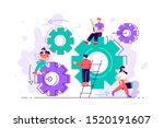 little people links of... | Shutterstock .eps vector #1520191607